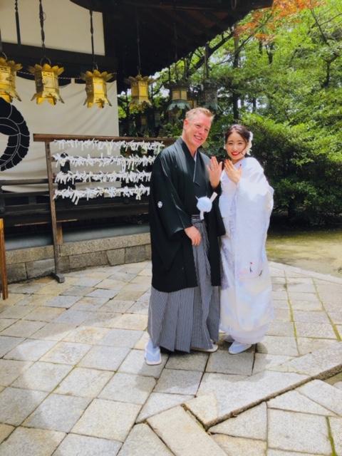 奈良 大和郡山市の薬園八幡神社にて結婚式 2019.7.6 写真