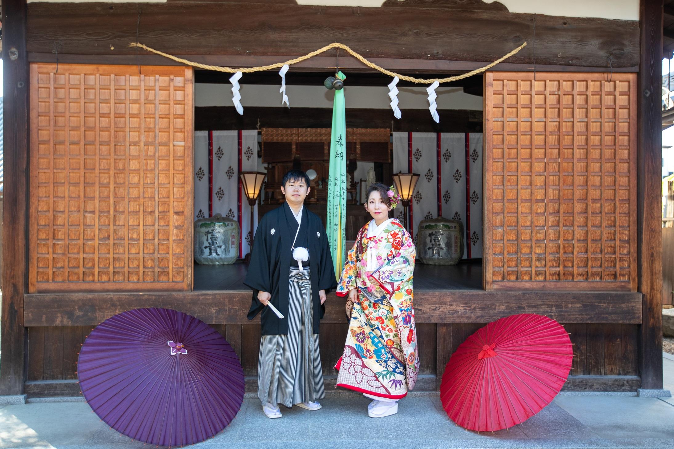 大和郡山市 薬園八幡神社にてご結婚式 2019.11.2 写真